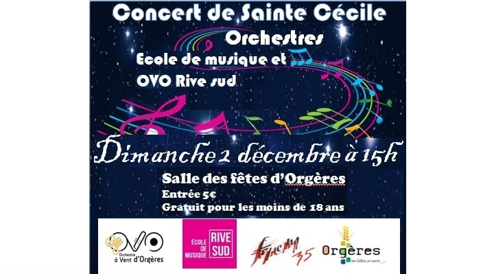 Affiche du concert de la Ste Cécile