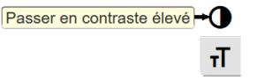 icône situé au bord de l'écran qui permet de cmodifier le contraste par choix de couleurs approprié